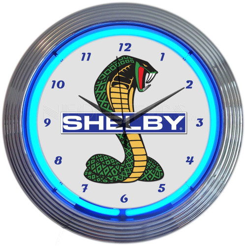 SHELBY COBRA NEON CLOCK