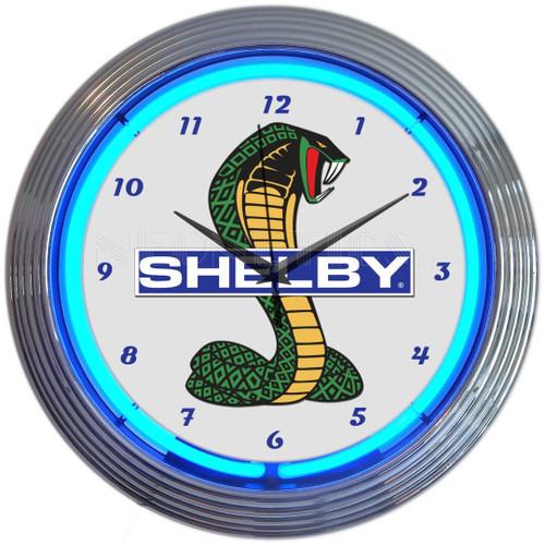 SHELBY COBRA NEON CLOCK