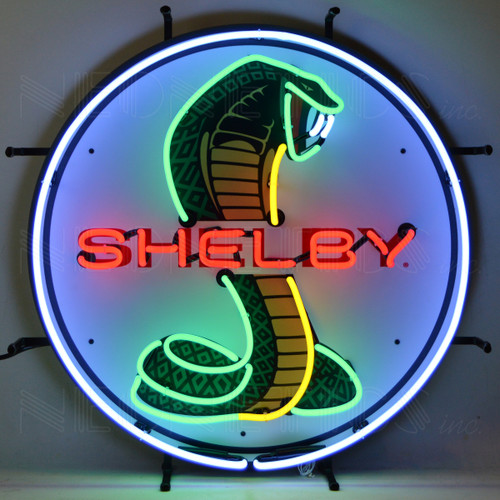 SHELBY ROUND NEON SIGN WITH BACKING