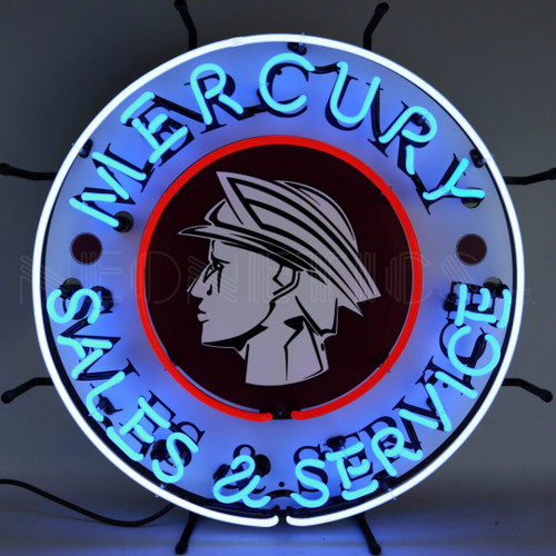 MERCURY SALES AND SERVICE NEON SIGN