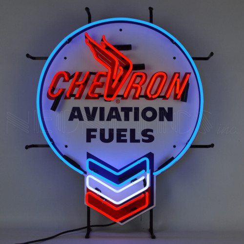 CHEVRON AVIATION FUELS NEON SIGN (CATALOG ONLY)