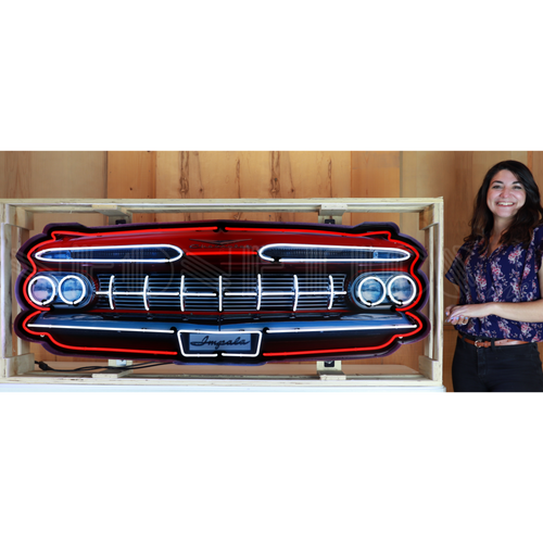 GRILL – IMPALA GRILL NEON SIGN IN STEEL CAN