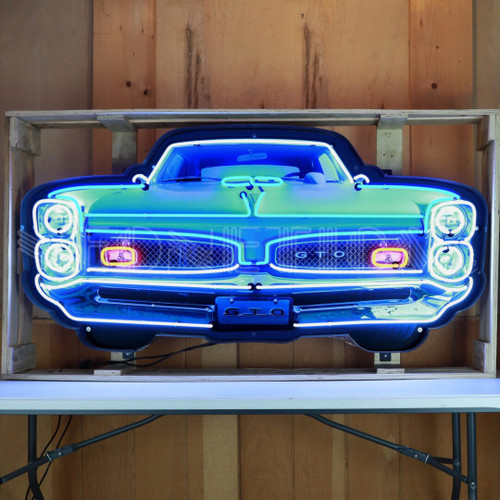 GRILL – GTO GRILL NEON SIGN IN STEEL CAN