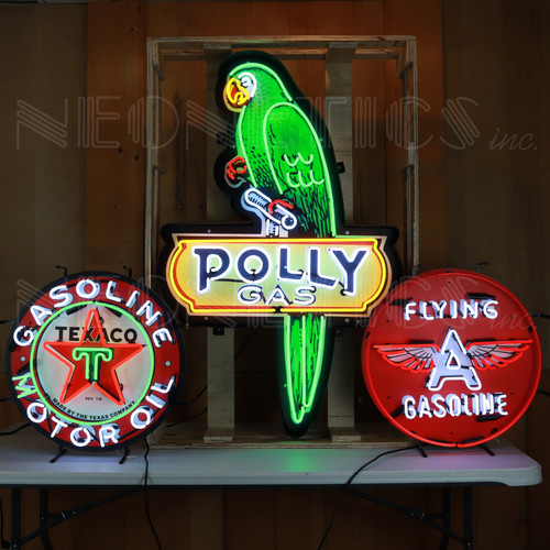 POLLY SHAPED NEON SIGN IN STEEL CAN