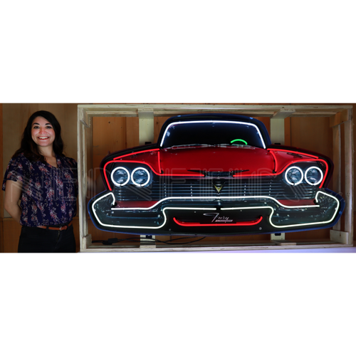 GRILL – PLYMOUTH FURY GRILL NEON SIGN IN STEEL CAN