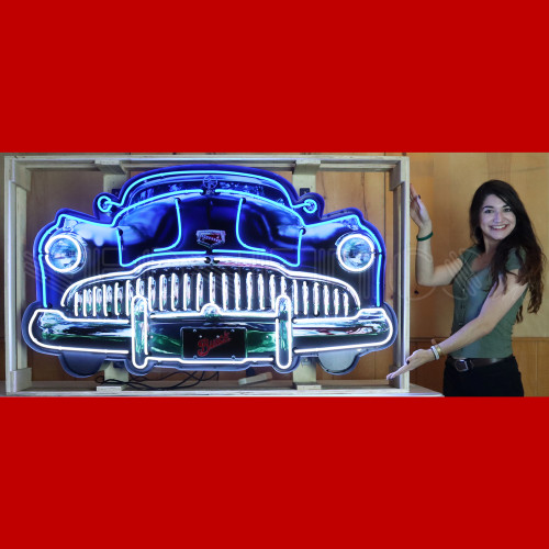 GRILL – BUICK GRILL NEON SIGN IN STEEL CAN