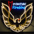PONTIAC GOLD FIREBIRD NEON SIGN WITH BACKING