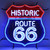 HISTORIC ROUTE 66 WITH BACKING NEON SIGN