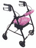 Rollator shown with Breast Cancer Awareness Seat and Backrest Covers