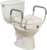 Viverity Locking Raised Toilet Seat with Arms