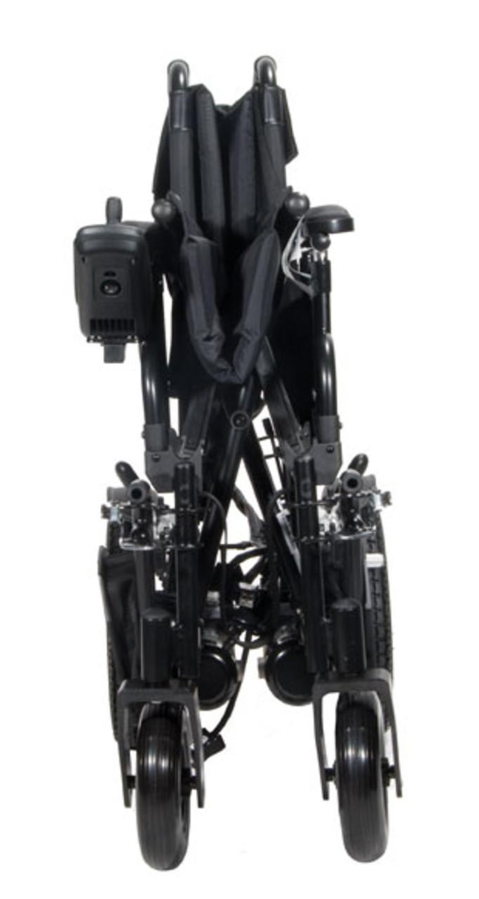 Drive Cirrus Plus EC Folding Power Chair Shown Folded Up