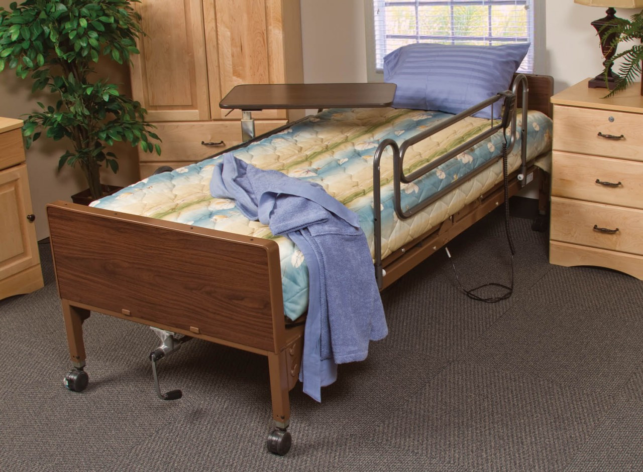 Shown with Mattress, Rails, and Table