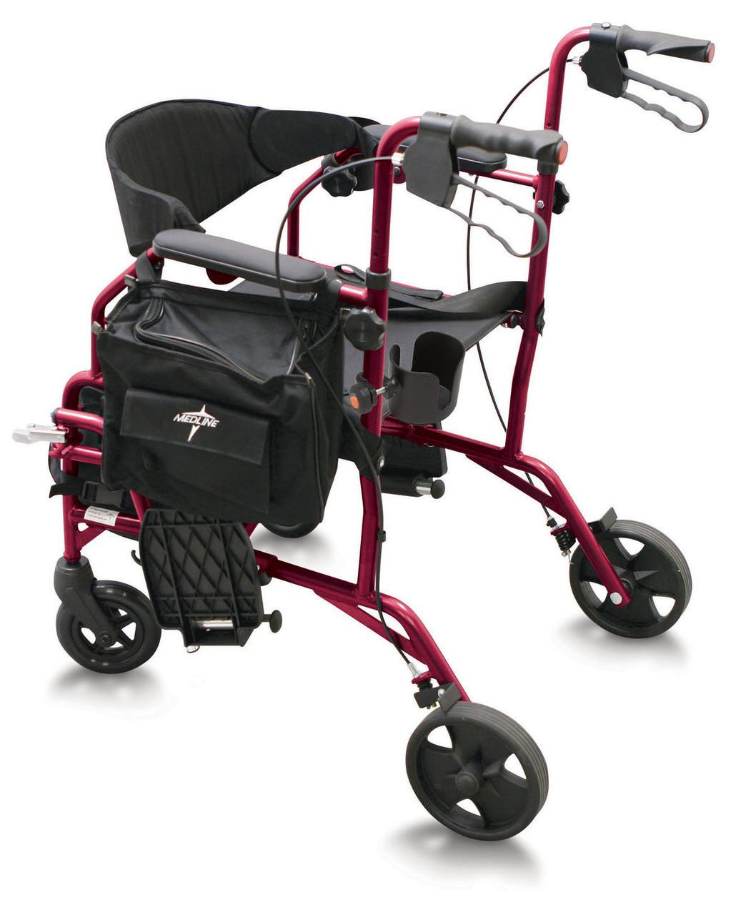 Medline Translator Rollator - Transport Chair Combo