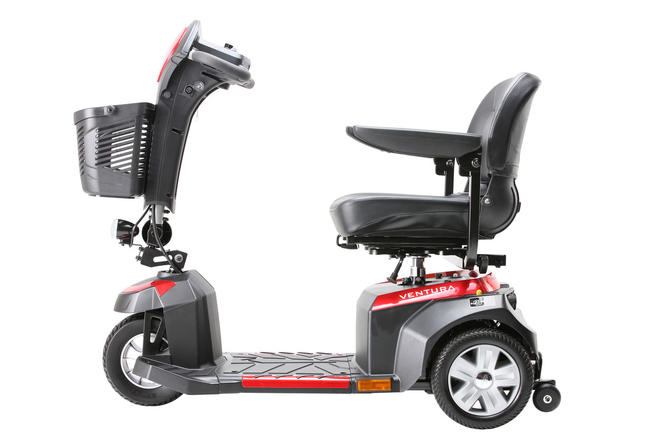 Drive Ventura 3 Wheel Scooter with Folding Seat Side
