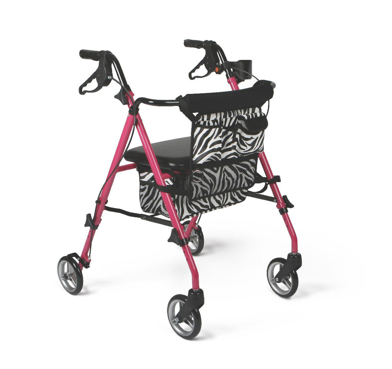 Pink Posh Zebra Rollator
