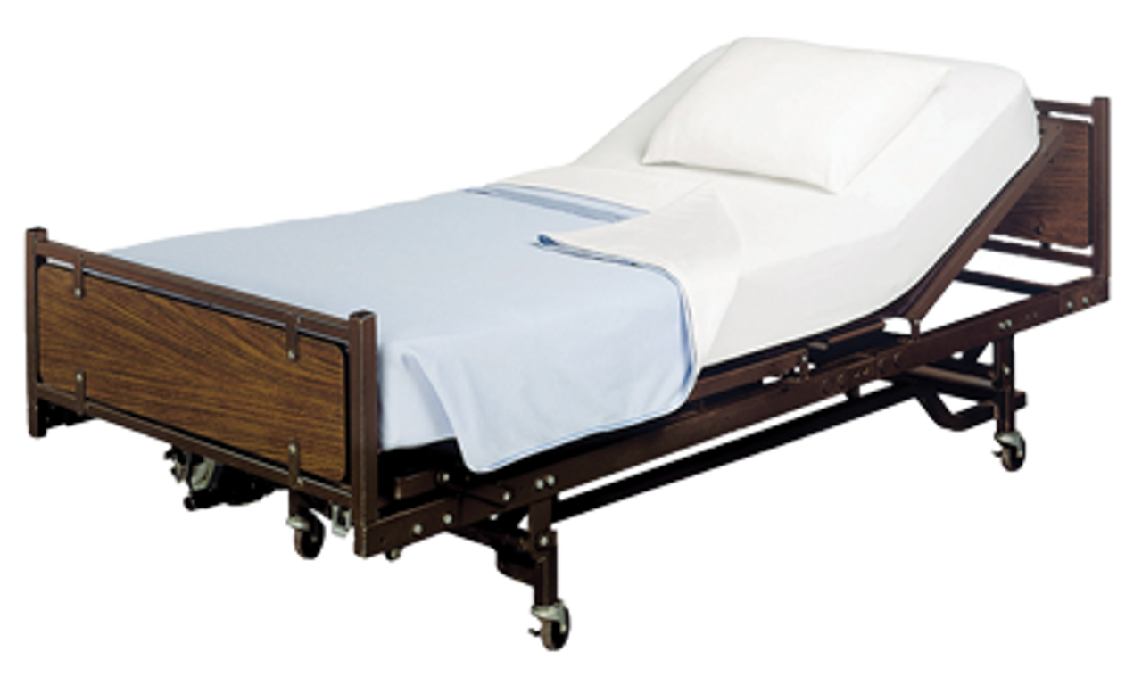 Full Electric Home Care Bed Package w/ Upgraded Multi-Density Foam Mattress