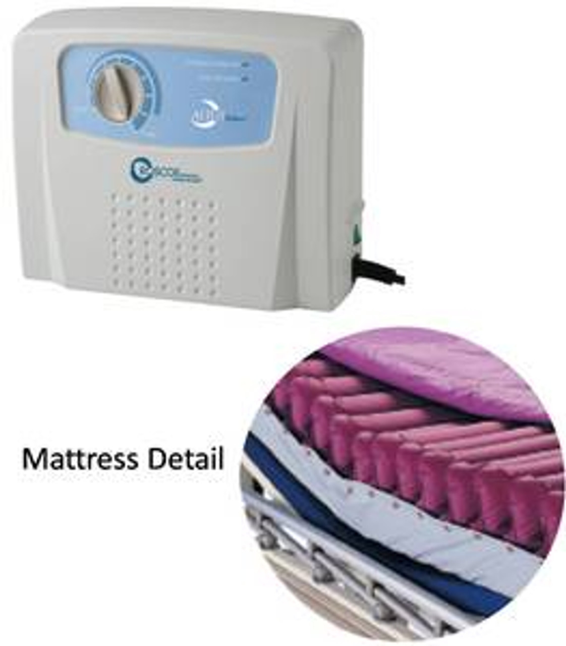 Roscoe Low Air Loss Mattress System with Alternating Pressure Pump