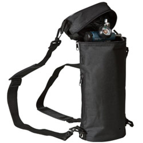 Cylinder bag can be used vertically, horizontally or as a backpack and will accommodate a variety of conservers.