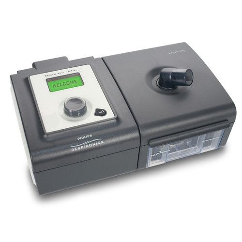 Respironics System One BiPaP Auto w/ Humidifier CPAP back shown