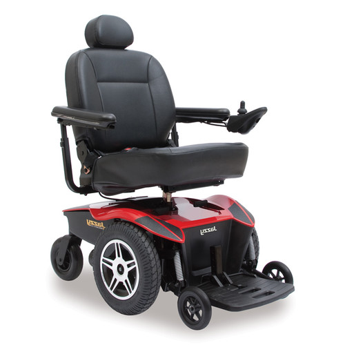 Pride Jazzy Select HD Power Wheelchair Red
