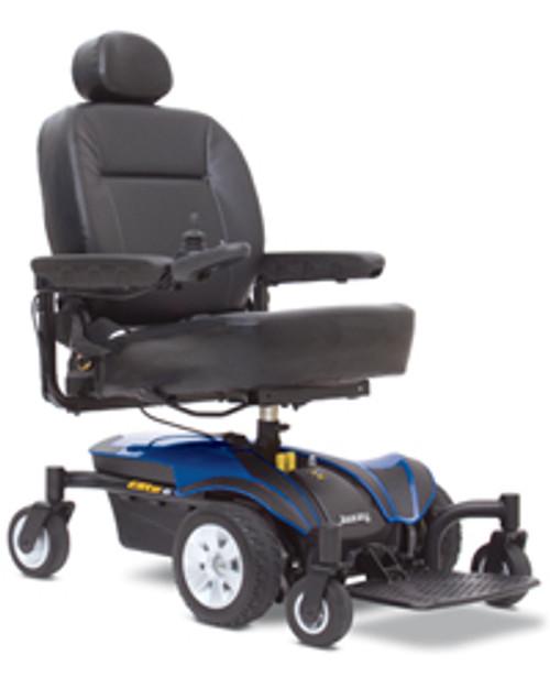Pride Jazzy Elite 6 Power Wheelchair Blue