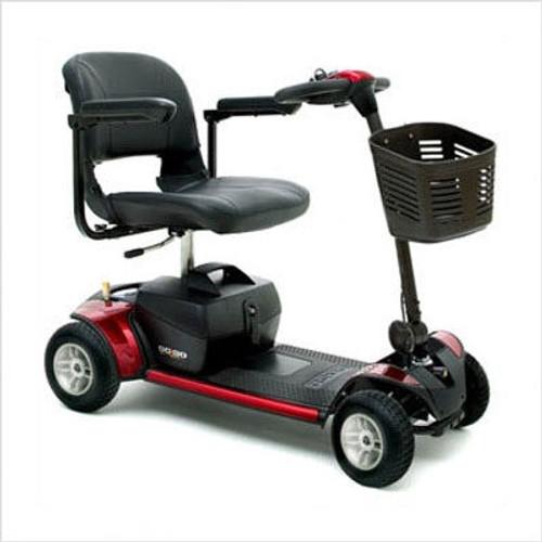 Pride Go-Go Elite Traveller Scooter (4 wheel) Red