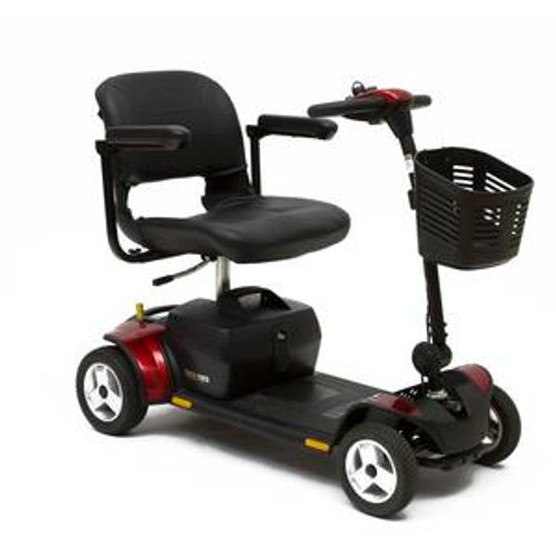 Pride Go-Go Elite Traveller Plus HD Scooter (4 wheel) Red