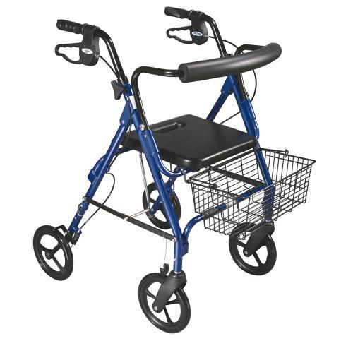 "D-Lite Aluminum Rollator 8"" wheels"