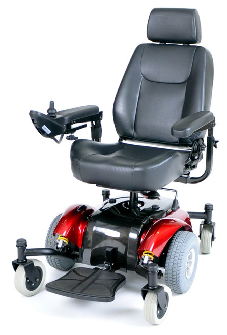 Drive Intrepid Mid-Wheel Power Wheelchair Red