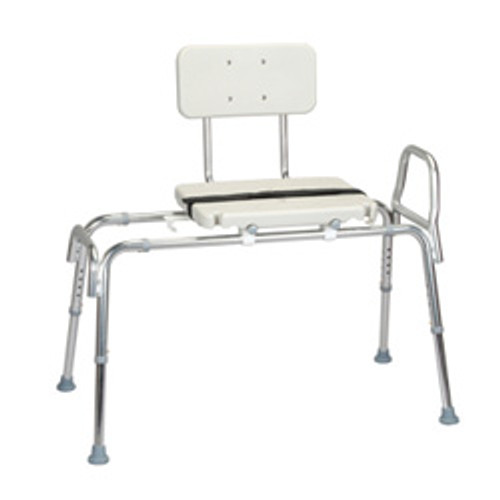 Roscoe Sliding Transfer Bench w/ Seat & Back