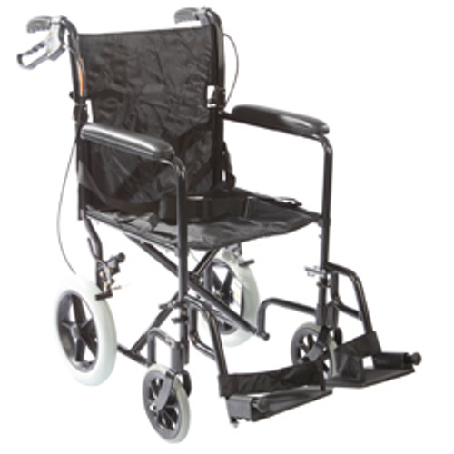 "Roscoe Transport Wheelchair w/ 12"" Rear Wheels"