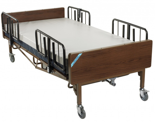 Drive Full Electric Bariatric Hospital Bed w/ Mattress and T Rails Package