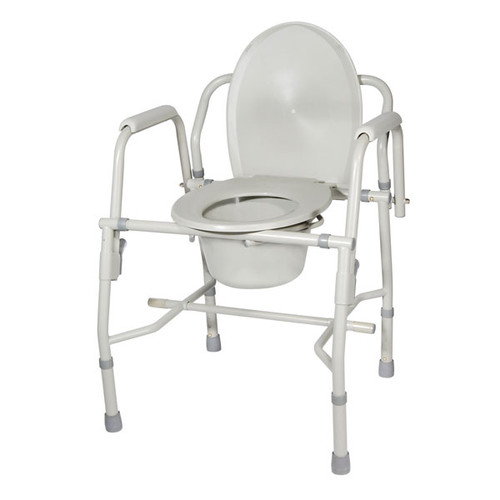 Drive Steel Drop Arm Bedside Commode with Padded Arms