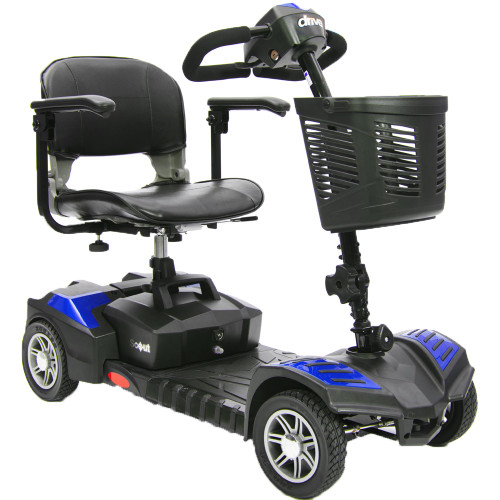 Spitfire Scout DLX 4 Wheel Compact Travel Scooter Blue