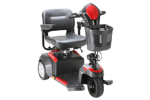 Drive Ventura 3 Wheel Scooter with Folding Seat Red