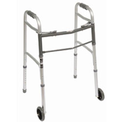 """Roscoe Deluxe Folding Walker – Adult, 5"""" Wheels"""