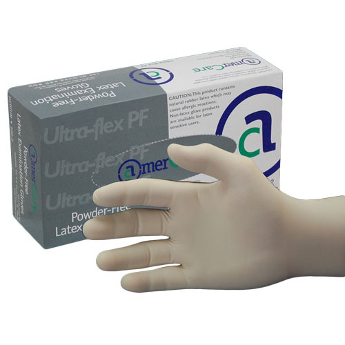 Ultra Flex Powder Free, Latex Exam Gloves