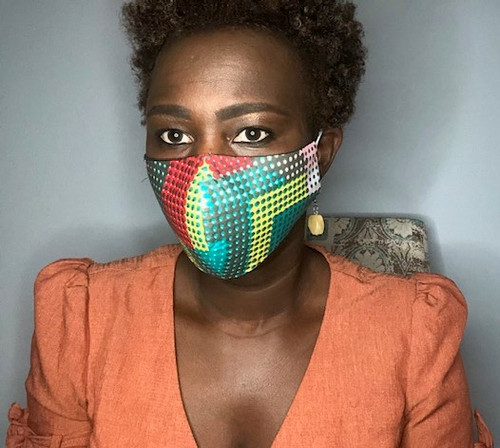 Coloful Ankara Mask