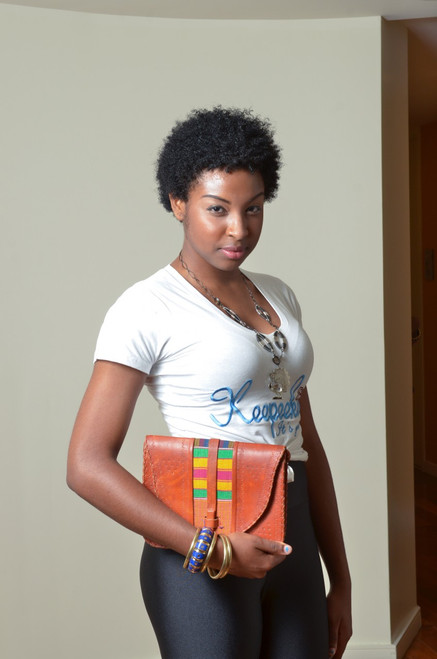 Leather Kente Bag