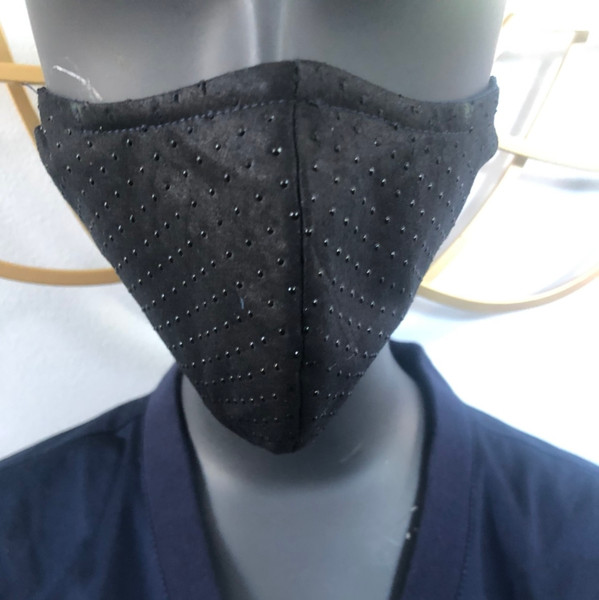 Black Dotted Mask