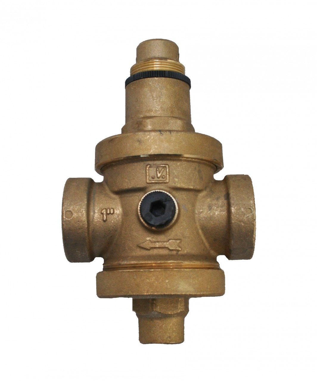 Brass pressure reducing valve FxF