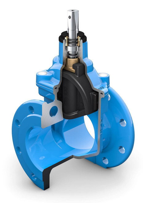 Cascade(CC)Resilient Seated Flanged Gate Valve PN10/16 - Clock Close, Cap Top.