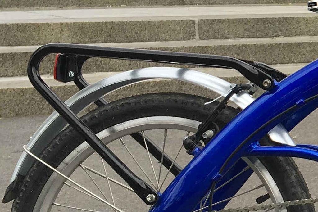 8C folding bike Blue rear rack