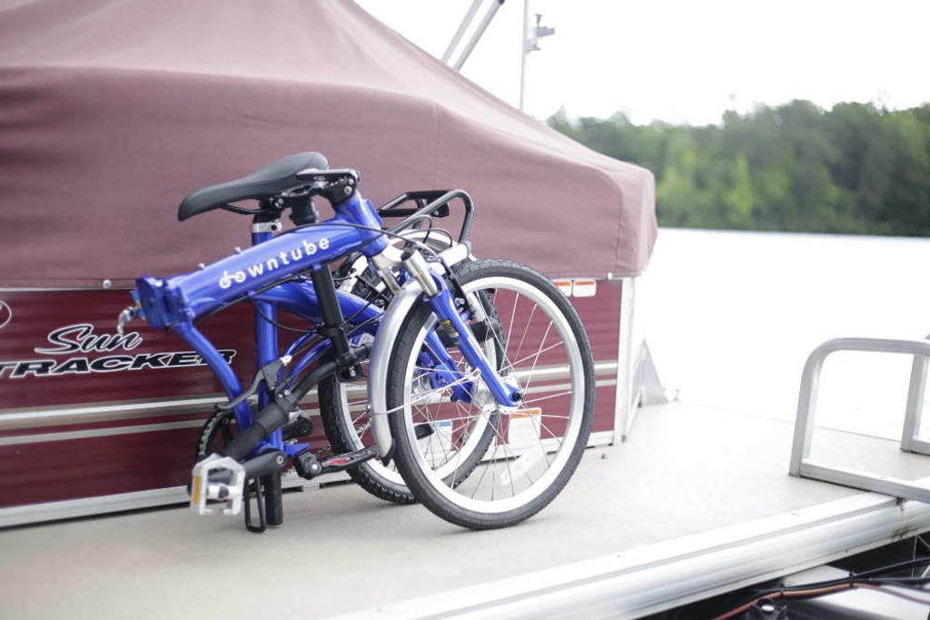 8C folding bike folded with a boat