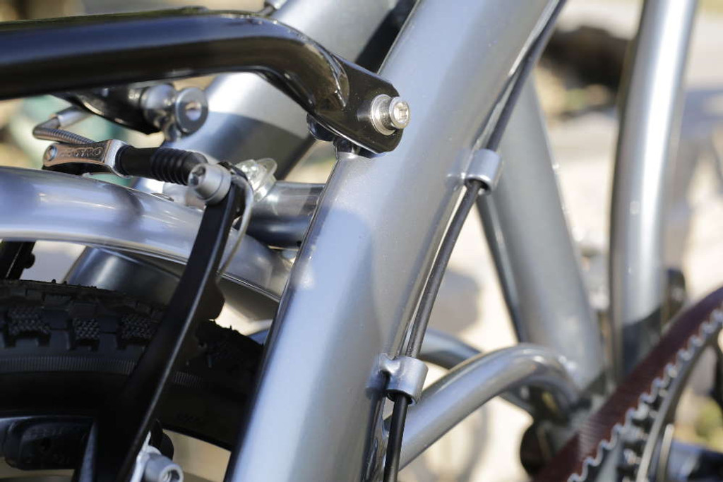11H silver seat stay aluminum frame
