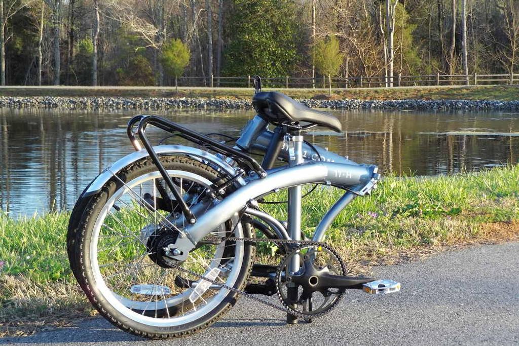11H silver folded bike