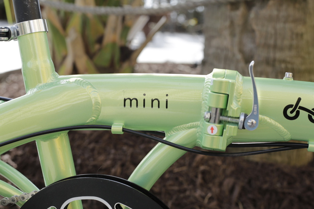 mini folding bike frame text