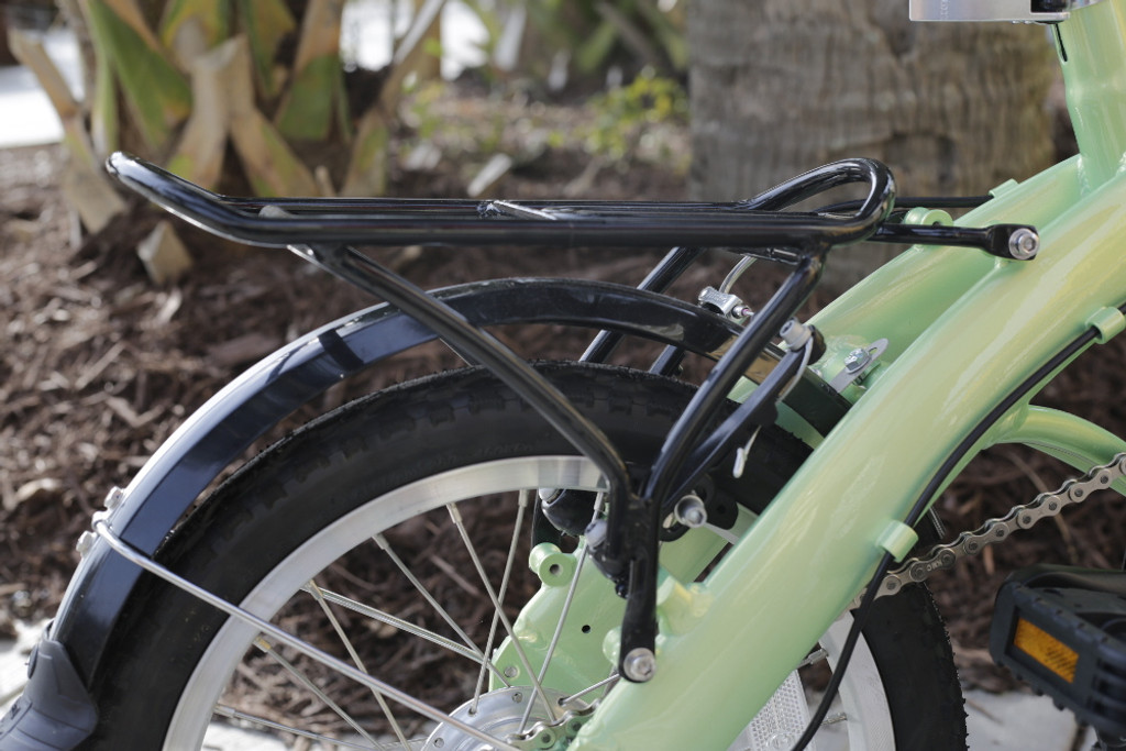 mini folding bike rack and rear fender
