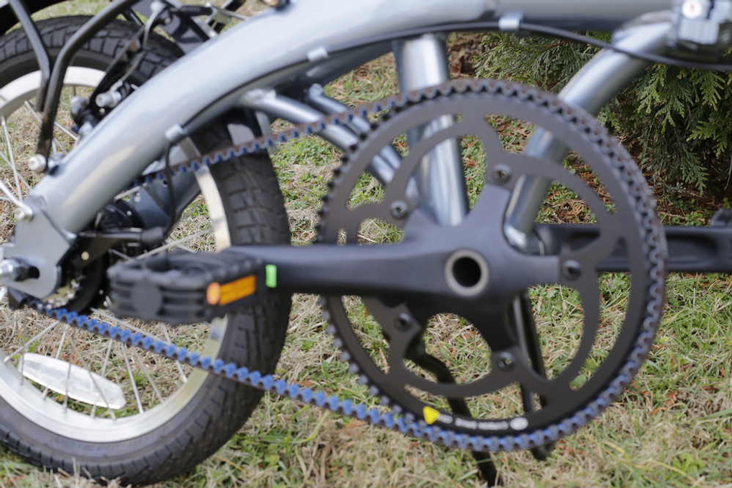 mini folding bike silver crank