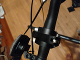 Quick release on the handlebar clamp for easy adjustability